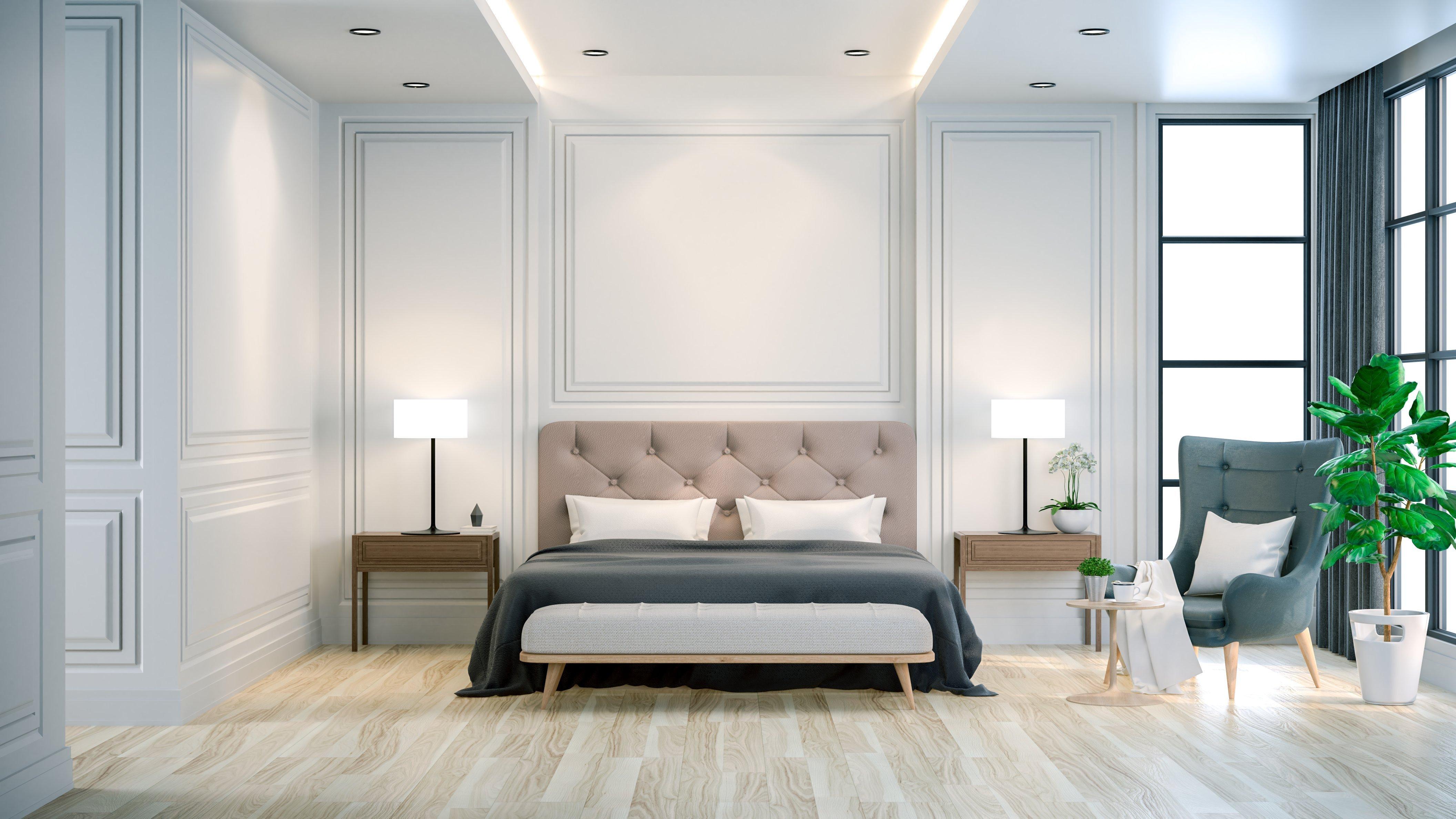 Interior Luxury and Cozy Bedroom with Modern Decor