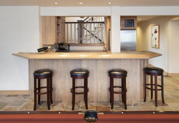 Basement Bar in Man Cave, Billiards Room