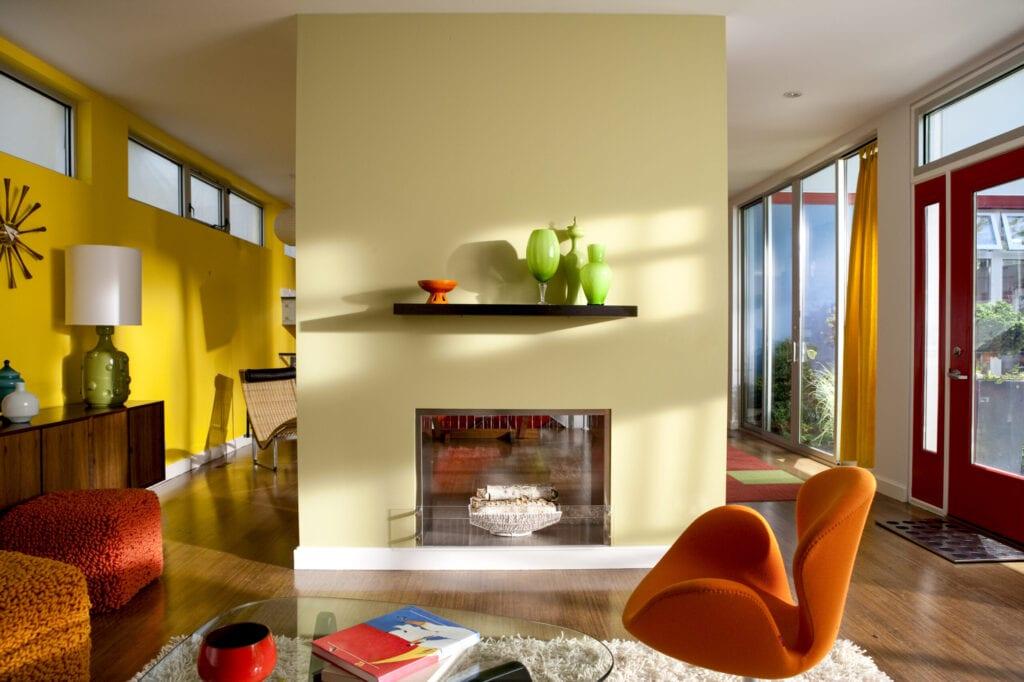 Brightly Colorful modern interior