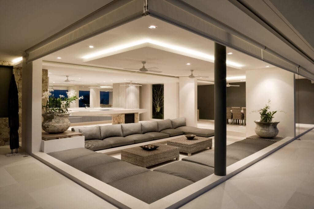 Modern Home Living Room Interior.
