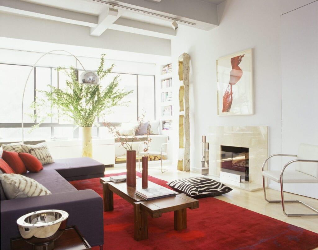 beautiful red decor living room