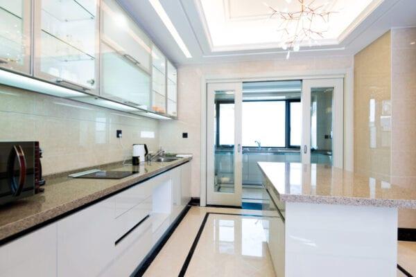Beautiful kitchen in modern apartment.