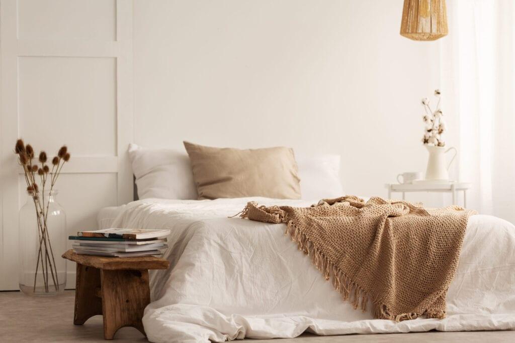 wab sabi bedroom