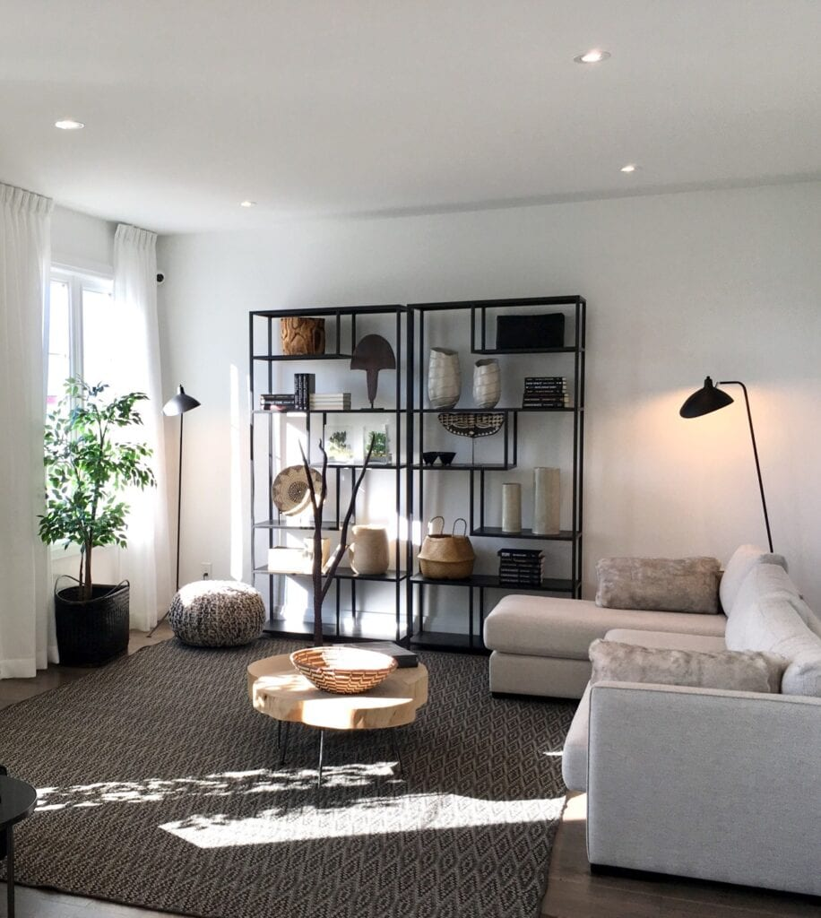 Natural toned living room