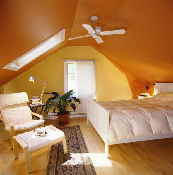 Paint Brightening Attic Bedroom