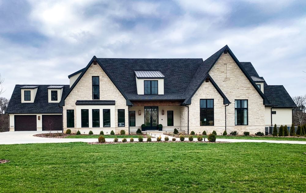 Exterior of craftsman style mansion