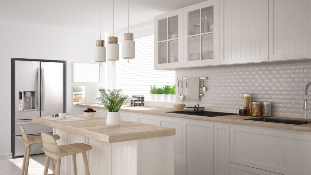 Minimalist modern kitchen with no clutter