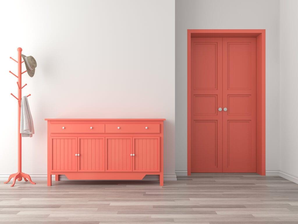 Colorful pink furniture