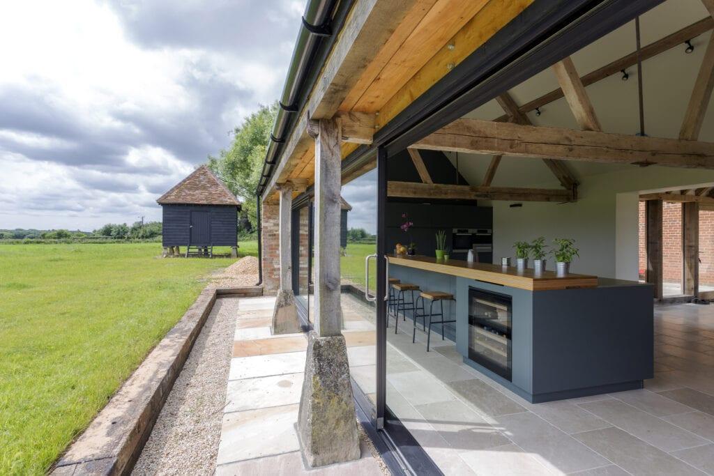 Modern open air kitchen
