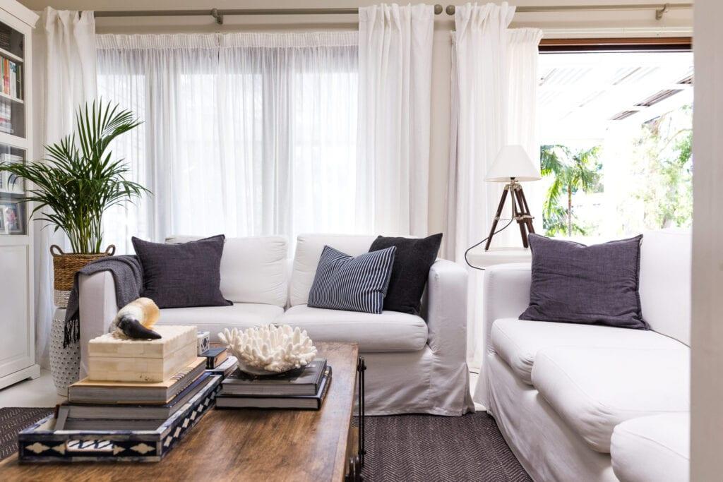 slip cover white couches