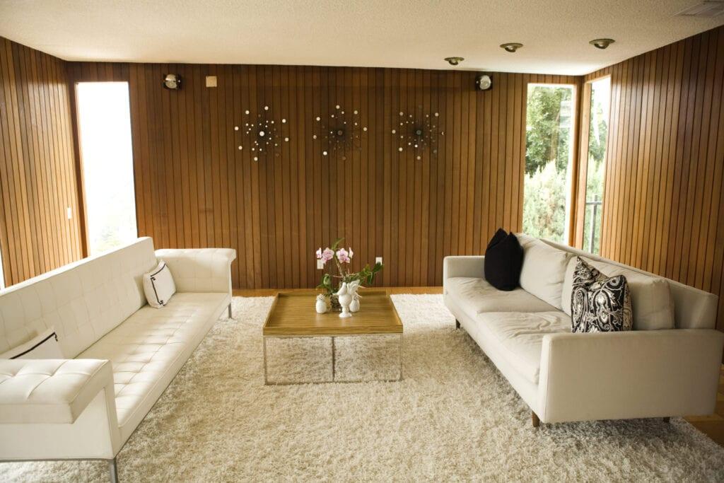 retro mid century living room