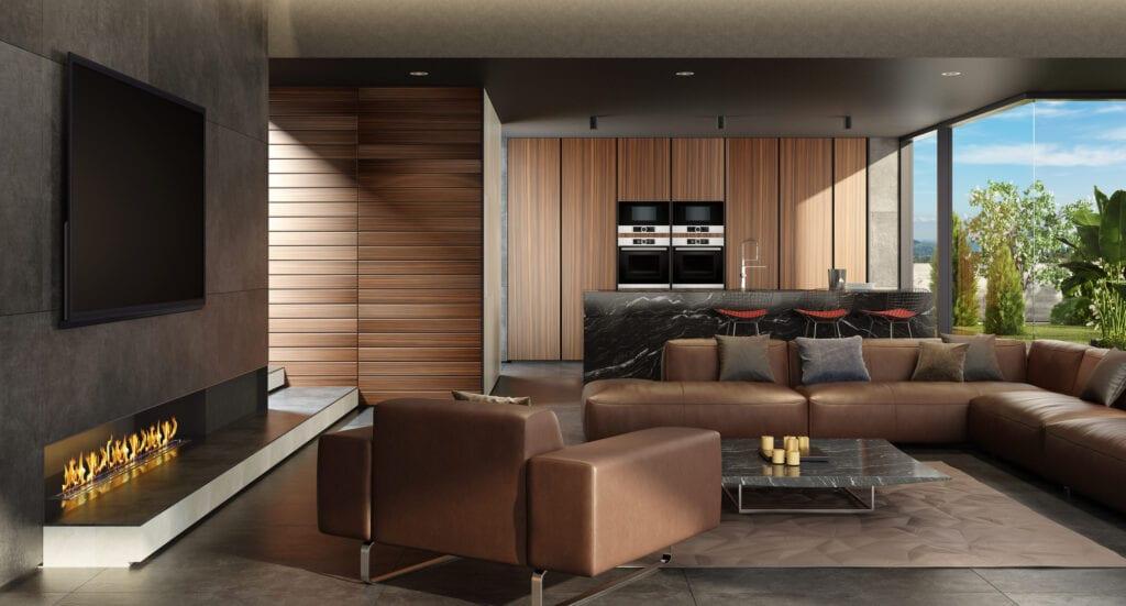 5 Modern Ways To Use Wood Paneling, Living Room Wood Paneling