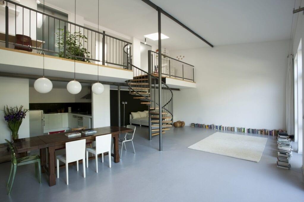 Open plan mezzanine interior