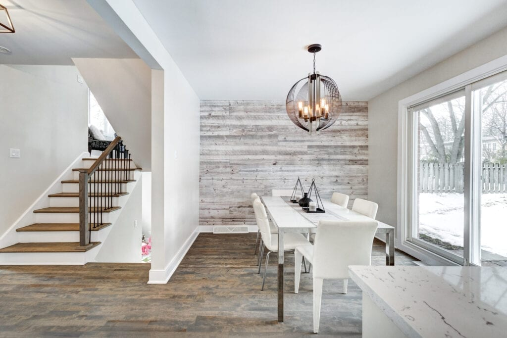 Flipped and staged house in Montreal, Canada