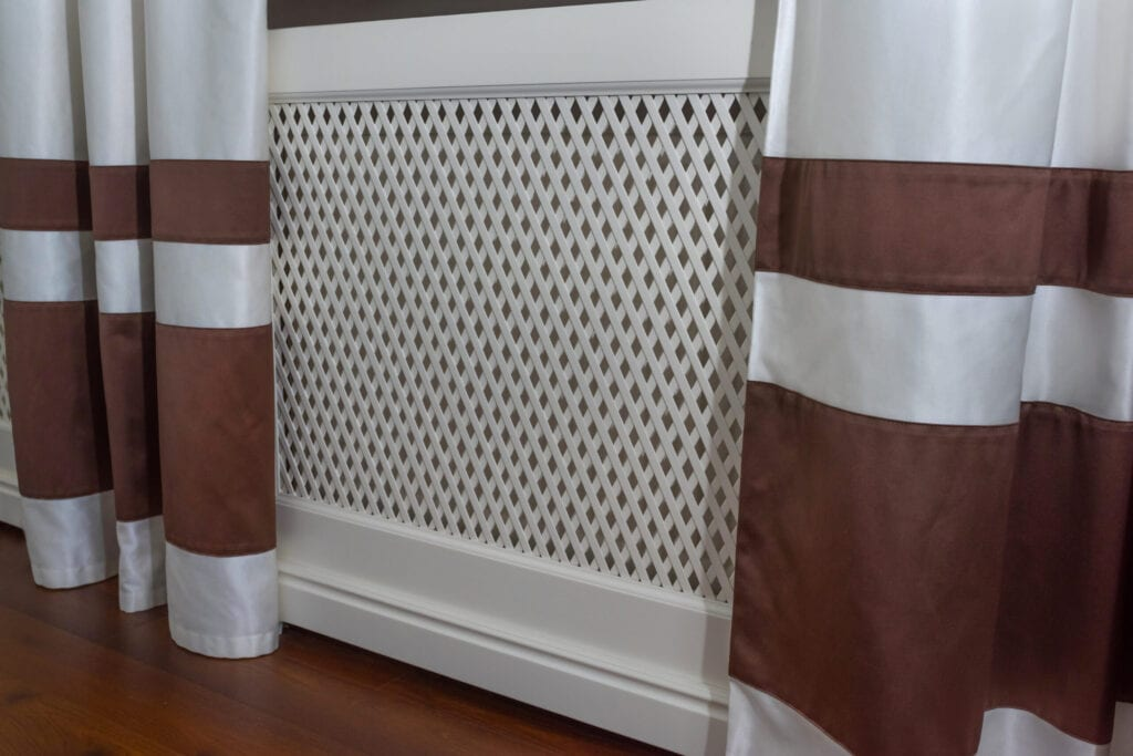 Radiator of heating in the interior. Heating the radiator