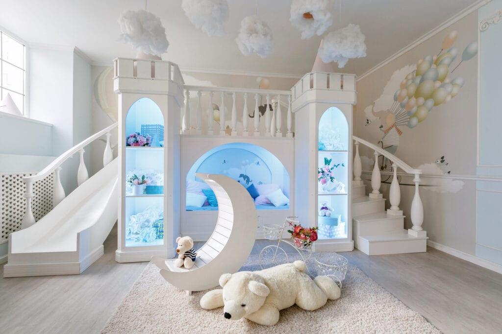 kids room with slide