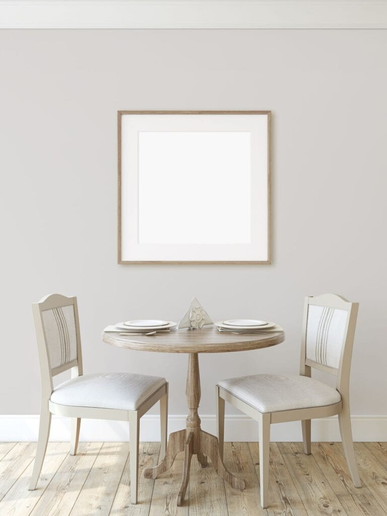 Modern farmhouse style dining table and chairs