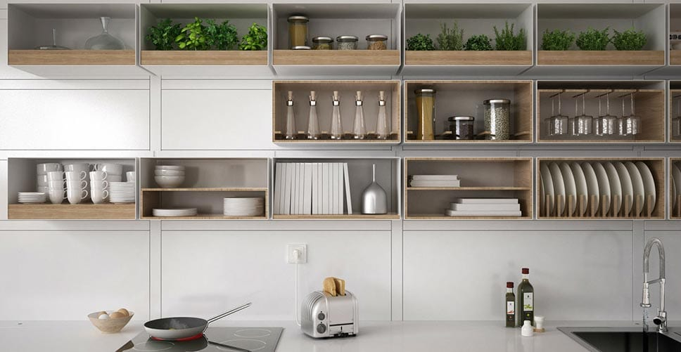 Keeping Your Kitchen Neat With Open Shelving Mymove