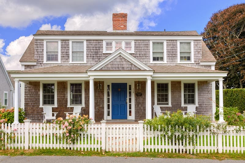 Front view of a Cape Cod style house