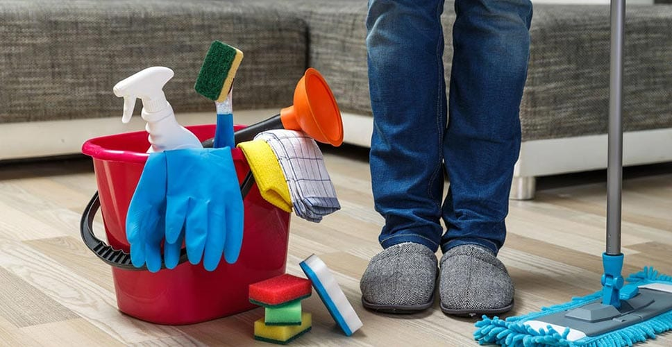 Thoroughly cleaning your home before you move can help better your chances of getting your security deposit back.