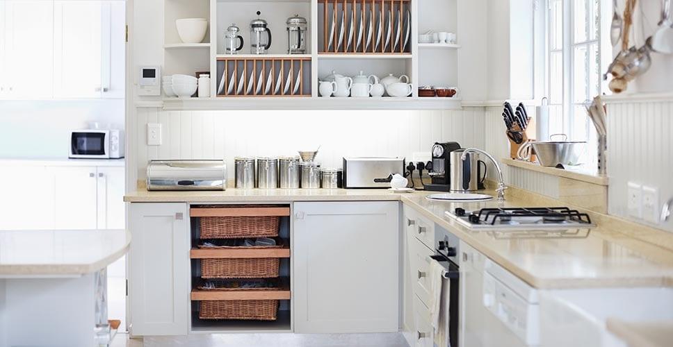 a modern styled kitchen