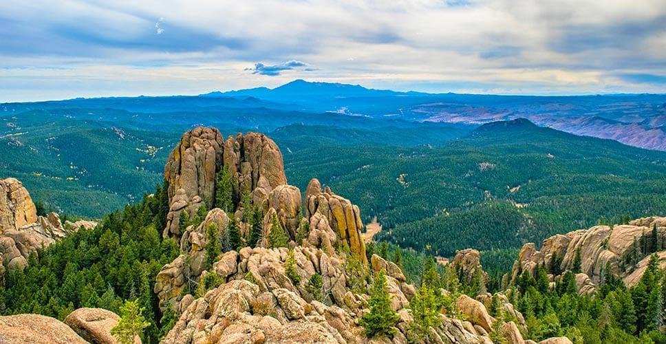 Littleton, Colorado mountain scenery
