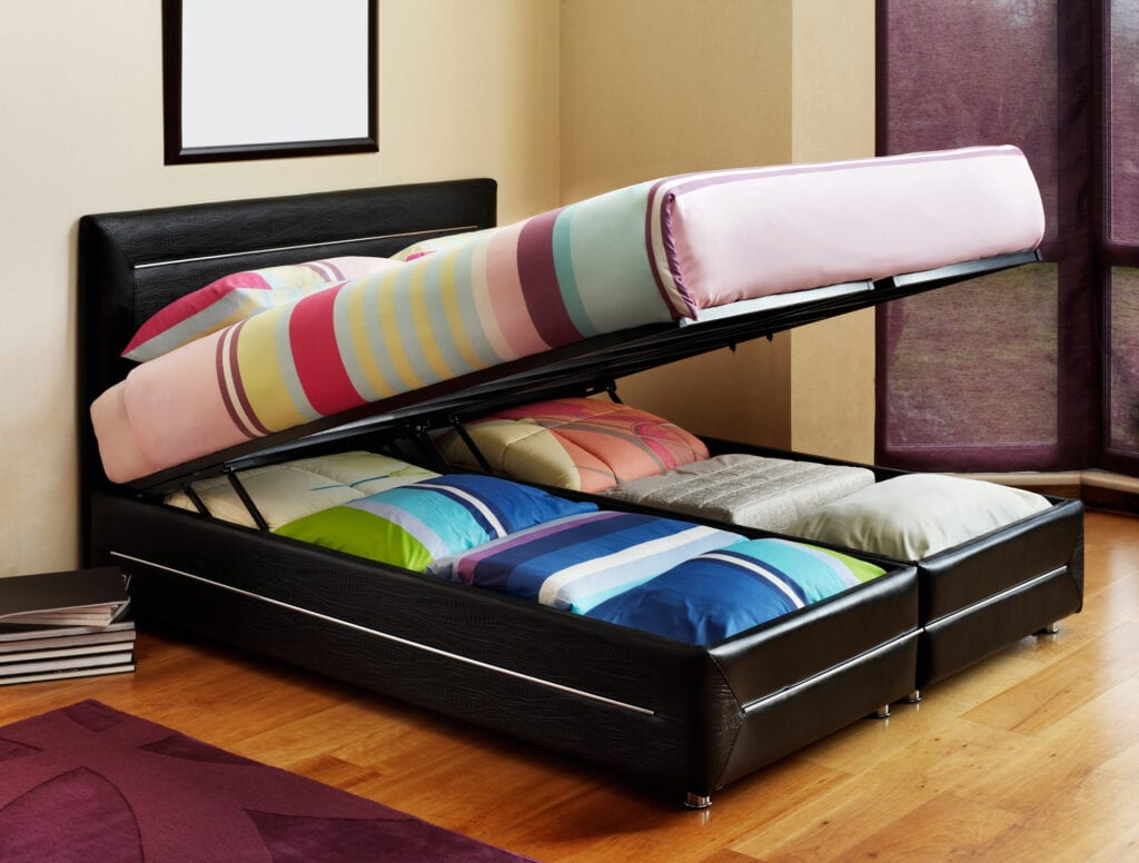 Opened bed base.