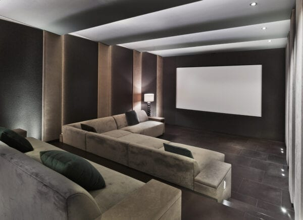 Home cinema in mansion in the suburbs of Moscow
