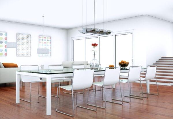 Dining room interior design in modern apartment