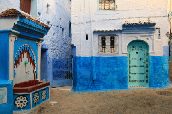 Typical street of the medina of Chefchaouen, a great place to spend an unforgettable vacation