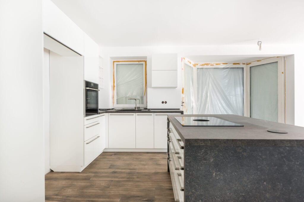 HDR Shot of a renovation kitchen