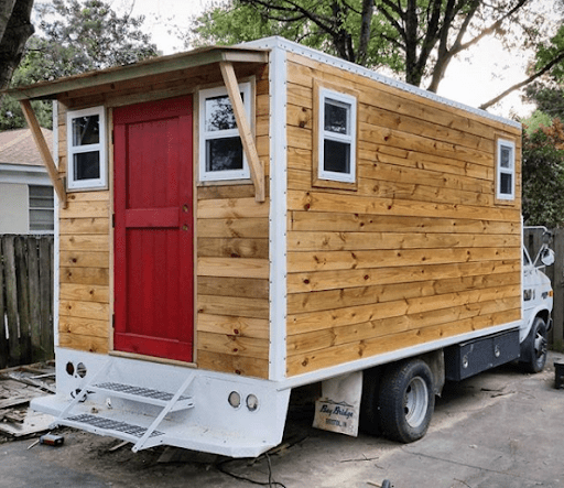 Tiny house built into a truck