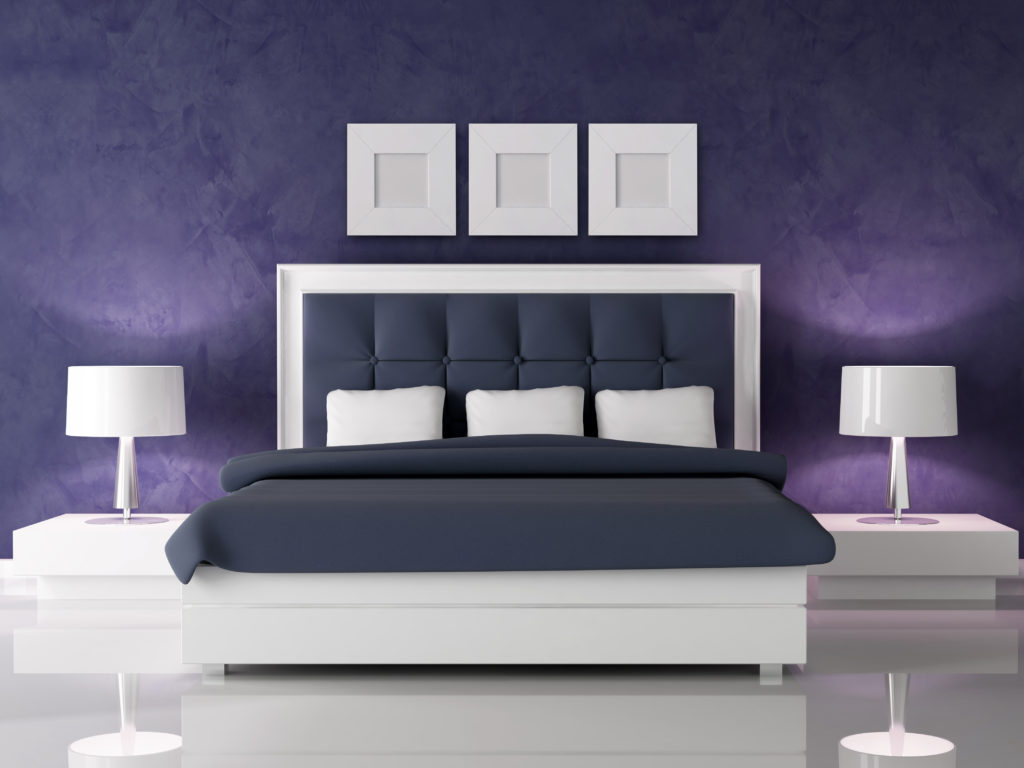 Purple luxury bedroom