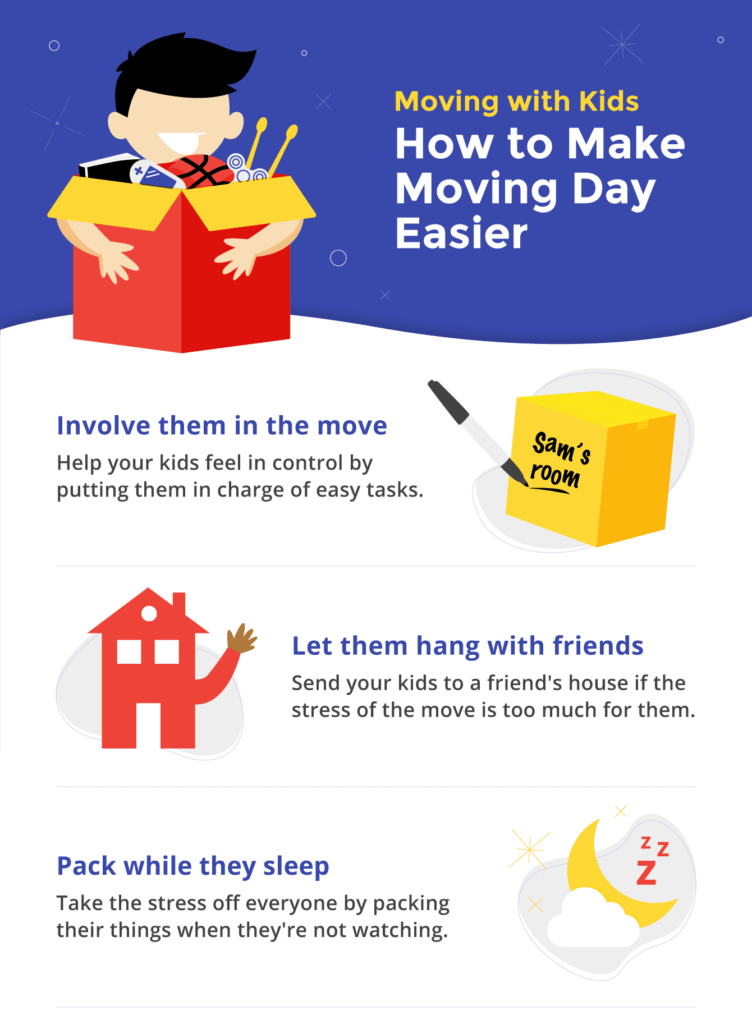 How to keep your kids calm and focused during your move.