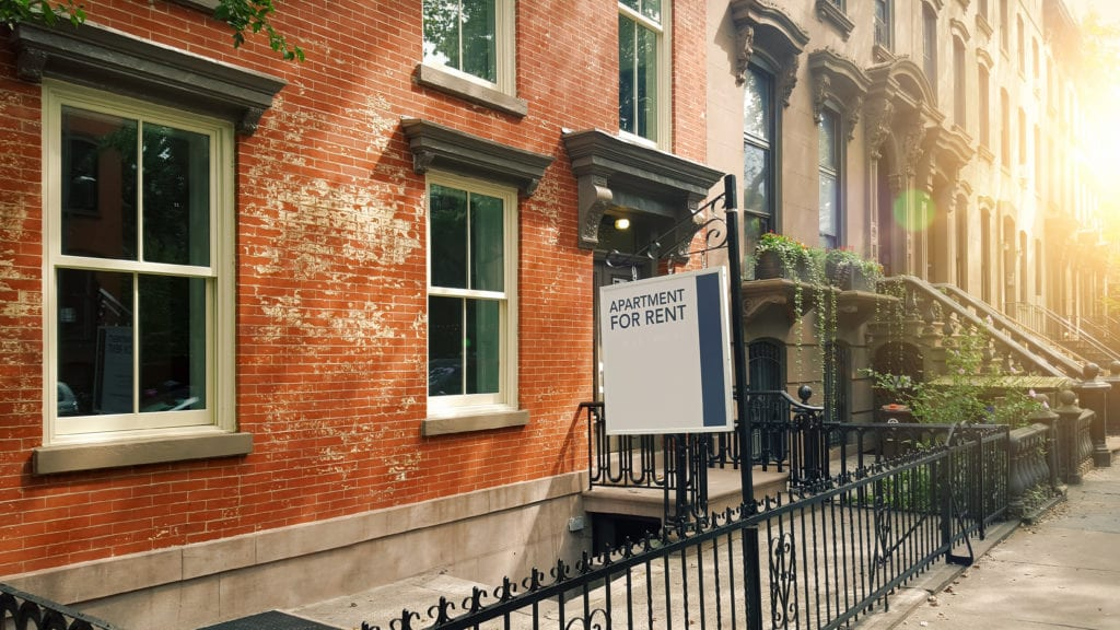 A New York City brownstone for rent. How is the novel coronavirus impacting renters?