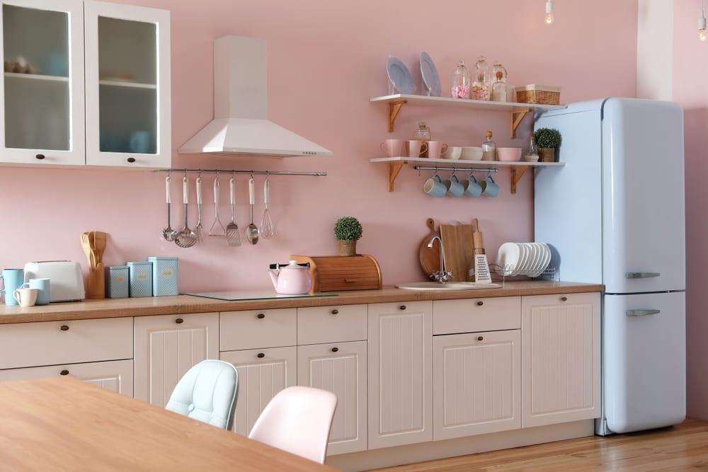 Light pink kitchen