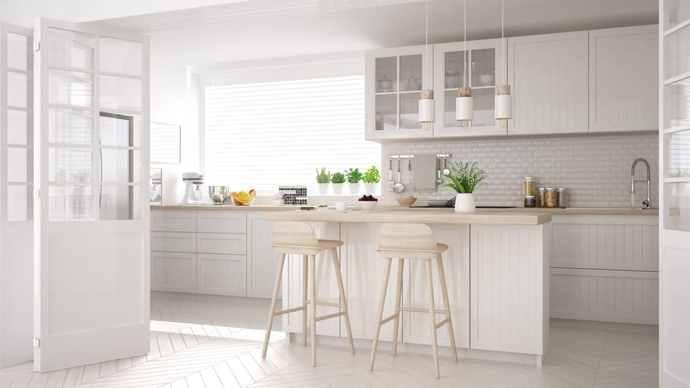 Classic and clean white kitchen