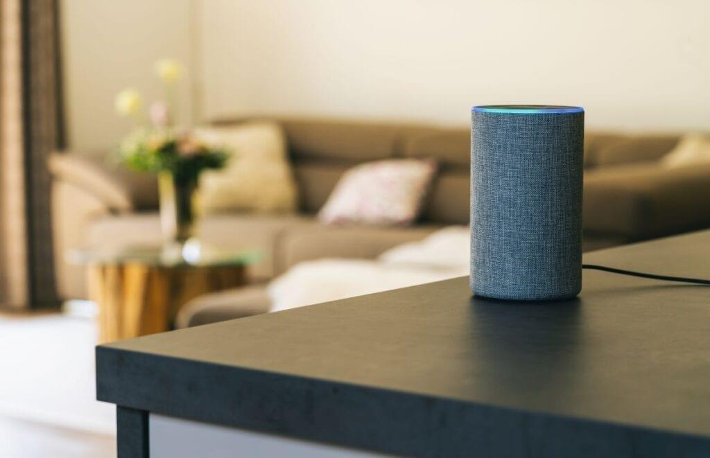 Amazon echo voice controlled speaker