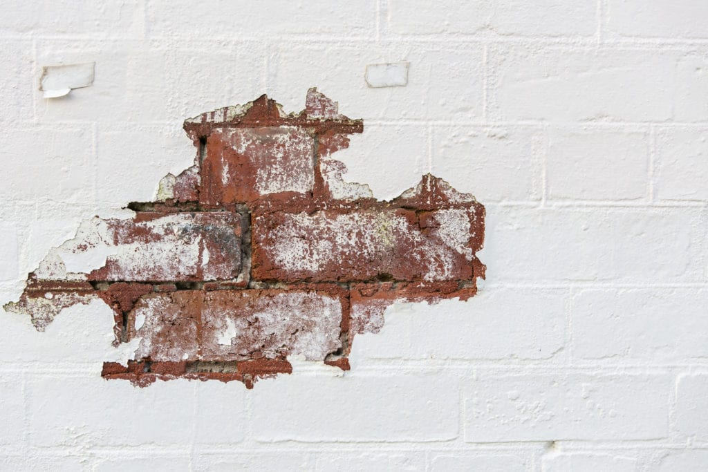 Remove paint from brick