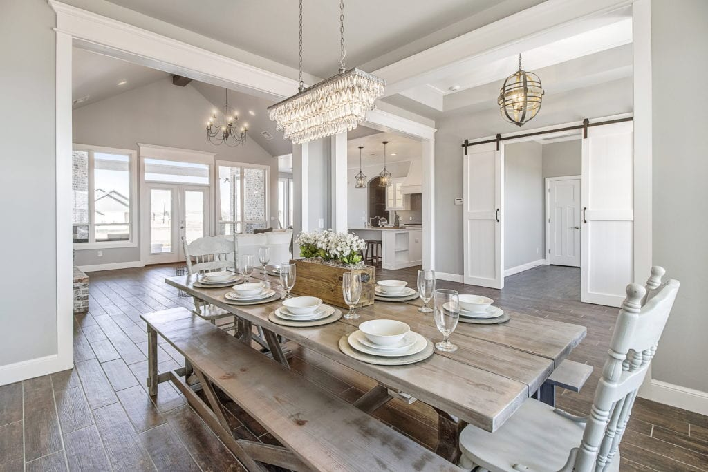 Luxurious dining room fit for a catalog