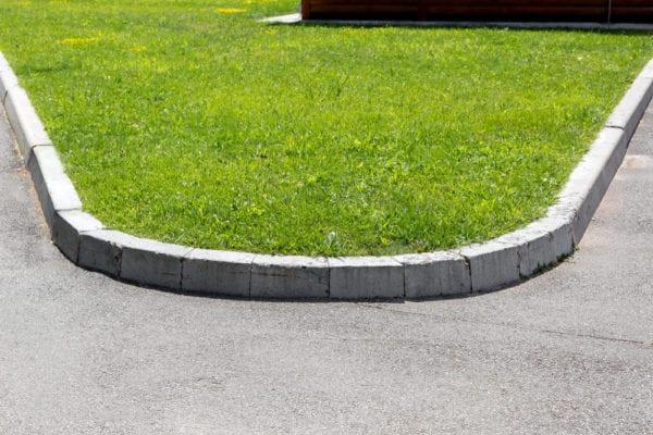 molded concrete edging