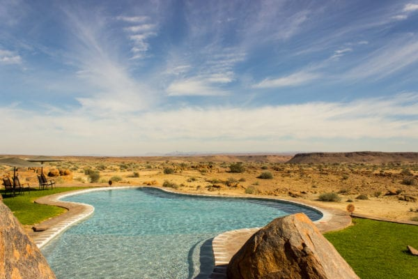 pool in the desert