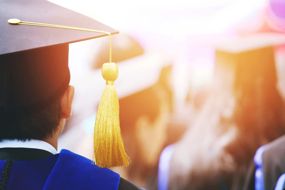 A college graduate during coronavirus.
