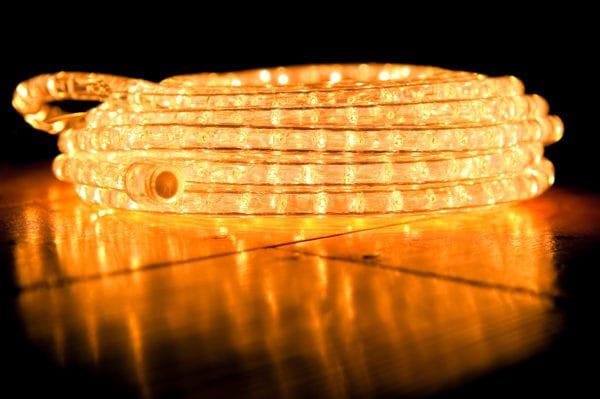 rope lights illuminated