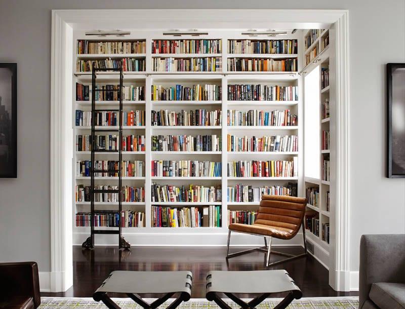 contemporary home libraries - freshome.com