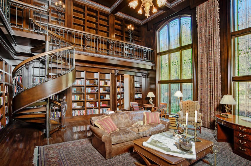 30 Classic Home Library Design Ideas (1)