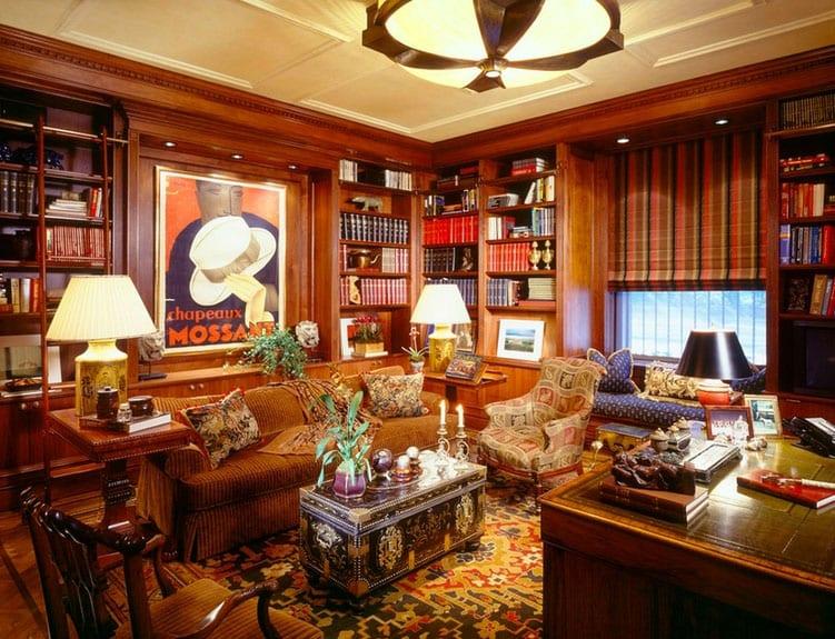 30 Classic Home Library Design Ideas (22)
