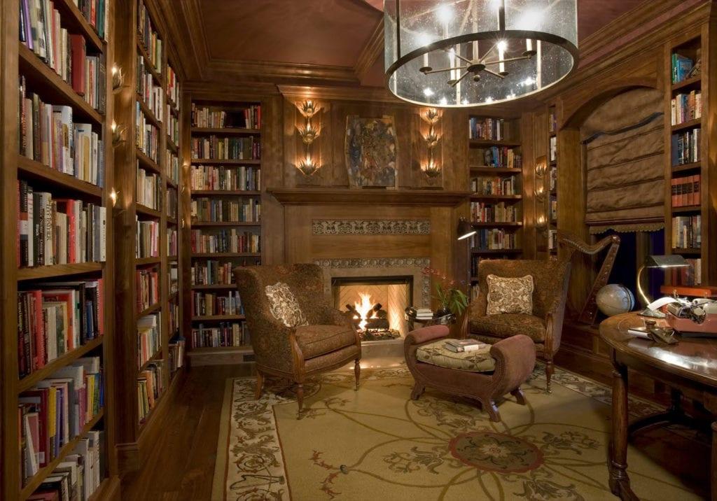 30 Classic Home Library Design Ideas (26)
