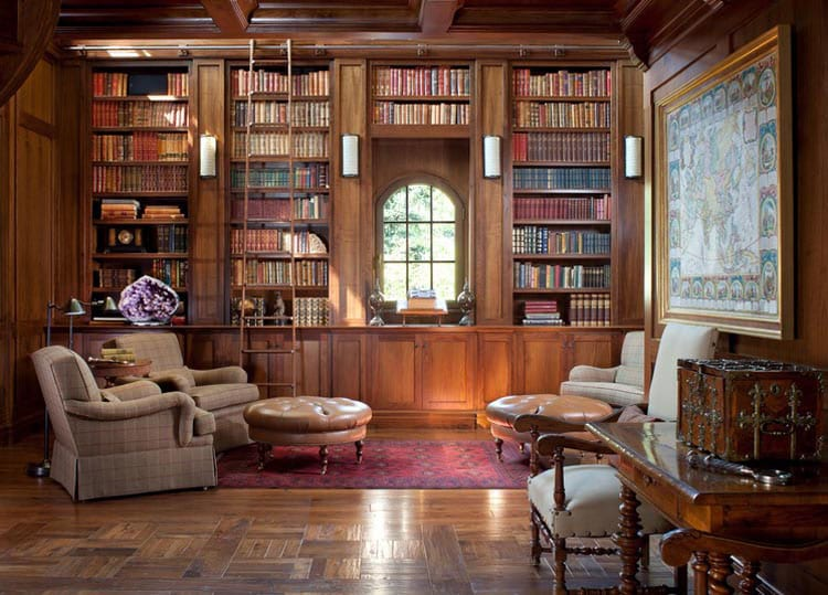 30 Classic Home Library Design Ideas (6)