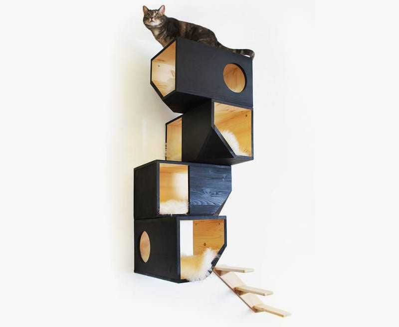 wall mounted cat towers - freshome.com
